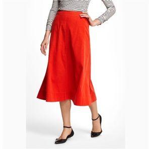 Anthro Vanessa Virginia Fine Wale Cord Midi Skirt